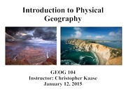 01 - Physical Geography Overview