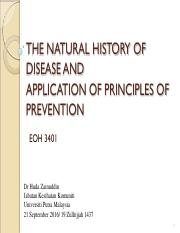EOH 3401 6 Natural history of disease and Prevention application 2016