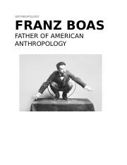 Report on FRANZ BOAS