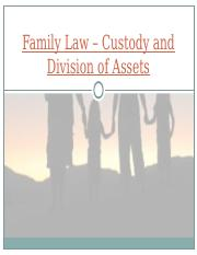 Family Law – Custody and Division of Assets.ppt