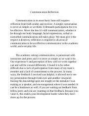 Communication Reflection Week 5 paper.docx