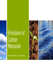 Powerpoint on Emissions of Carbon Monoxide