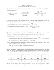 MA 162 Finite Math Worksheet and Solutions-- Value of Money