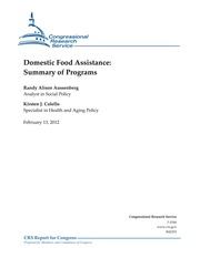 CRS Hunger Programs Summary
