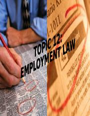 Topic 12 EMPLOYMENT LAW (1).ppt