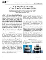 [Electrical, Control and Communication Engineering] The Mathematical Modelling of Heat Transfer in E