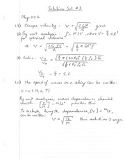 PHYS 251 Fall 2014 Problem Set 1 Solutions