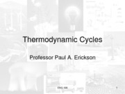 Lecture 6 Thermodynamic Cycles