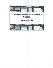 Class Note A Simple Model of Business Cycles