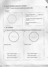 More Shape Homework For Practice Word Problems