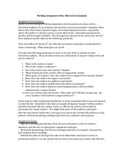 Writing Assignment One Assignment Sheet (2).docx