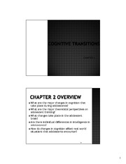 Cognitive Transitions - updated