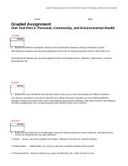 Personal, Community, and Environmental Health Unit Test, Part 2.docx