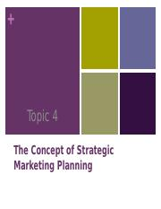 Marketing Leadership & Planning Sept 2015 4 - 7