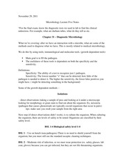 Microbiology Lecture Five Notes