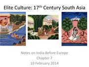 Elite Culture in 17th Century South Asia