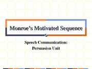 Monroe's Motivated Sequence ppt