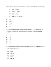 ChemENG 3K04 - PracticeQuestions-Answers