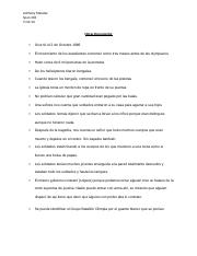 final document notes for spanish