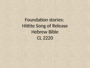PPT 23 Song of Release_Hebrew Bible