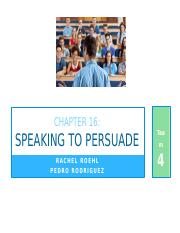 Persuading your audience