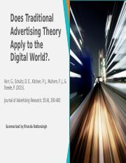 Does Traditional Advertising Theory Apply to the Digital World_2015_Kerr et al.pptx