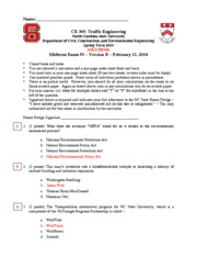 CE 305 Midterm 1 version B SOLUTIONS S2014
