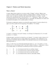 Chapter 4 - matrices and matrix operations