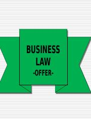 Business Law_Contract Law_OFFER.ppt