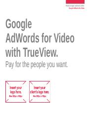 Display - YouTube - Google AdWords for Video with TrueView