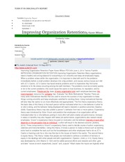 PSY 435 Week 4 Improving Organization Retention Paper Originality Report
