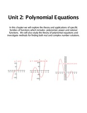 polynomial equations unit 2 packet notes