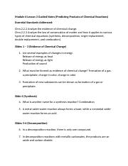 Honors Chemistry Module 6 Lesson 3 Guided Notes.doc