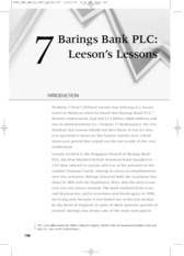fall of barings bank case study View essay - barrings bank fall from cis 330 at prince sultan university internal barings a case study in risk management and internal controls introduction: in 1995.