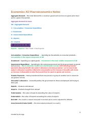 Economics AS Level Notes Macroeconomics (Finished) (1).docx