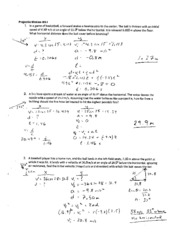 Printables Projectile Motion Worksheet projectile motion worksheet 1 solution