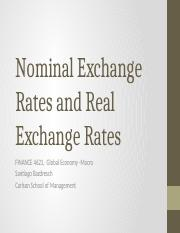2 - Nominal and Real Exchange Rates