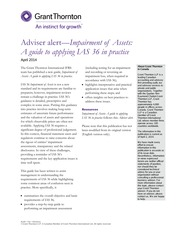 IAS 36 Impairment of Assets - A guide to applying IAS 36 in practice