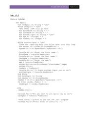 "pt1420 assign 10 Pt1420 u4a1 hw  topics: variable,  display , numxten ,""multiplied by 10 = "", answer end module unit 4 assignment 1 homework jason sims (5."