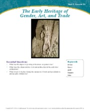 The Early Heritage of Gender, Art, and Trade