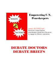 Debate Doctors Brief