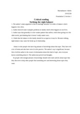 Copy of Critical reading striking right balance