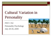 Cultural Variation in Personality POST