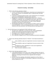 Fall 2013  ACC 326 Exam 1 Practice Questions