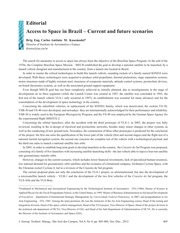 JATMv4n4_p405-406_Editorial_Access_to_Space_in_Brazil-Current_and_Future_Scenarios