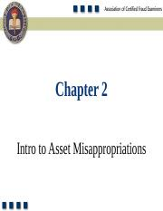 Chapter 2 - Intro to Asset Misappropriations.ppt