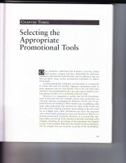 Selecting the sppropriate Promotional Tools