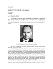 2. German Nuclear Program