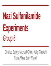 Group 6 Week 5- Nazi Doctors
