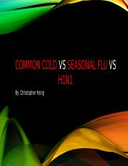 Cold vs Flu vs H1N1
